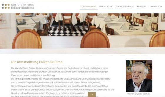Die Kunststiftung Folker Skulima ist gegründet.