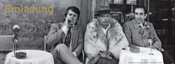 Folker Skulima, Joseph Beuys und Lucio Amelio 1972 in Neapel