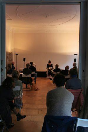 Monika Rinck - Lesung in der Kunststiftung Folker Skulima